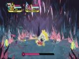 Versla het friet monster uit Steven Universe met hulp van Finn en Jake en Mordecai en Rigby.