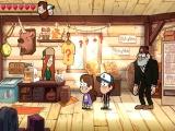 Velen karakters uit de tv serie zoals Mabel, Dipper en ome Stan zijn van de partij.