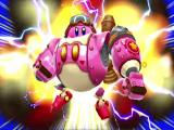 Je speelt als de schattige Kirby.
