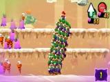 Gebruik de speciale Luigi kopieën voor grote aanvallen! Zo kun je veel Luigi's een vijand laten bestormen!
