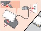 Steek de voeding in het oplaadstation. De <a href = http://www.mario3ds.nl/Nintendo-3DS-spel.php?t=Nintendo_3DS target = _blank>3DS</a> laadt op als je hem in het statoin legt.