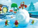 Rol die Chompy's plat met je sneeuwbal.