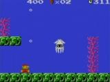 Zie hier een van de beroemdste vijanden uit de Mario serie: de Blooper.