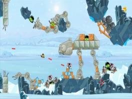 Met Angry Birds-interpretaties van beroemde scenes uit de films, zoals dit gevecht op de planeet Hoth.