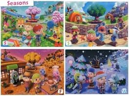 In het spel wordt rekening gehouden met de seizoenen. Aan alle 4 wordt gedacht.