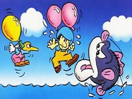 In Balloon fight zijn vissen en vogels je ergste vijanden!