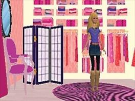 Barbie moet er goed uitzien voor haar eigen feest en jij moet haar stylen.