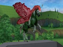 Meid, die nieuwe rode vleugels vloeken ontzettend bij je donkergroene lichaam!
