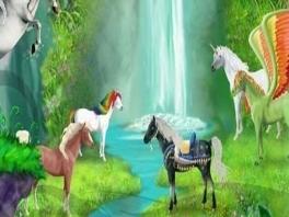 Voeg je samen bij andere paarden en rust lekker uit.
