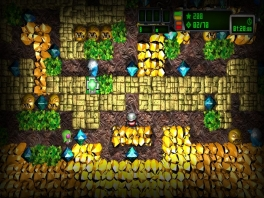 Verken 100 verschillende grotten en verzamel de diamanten.
