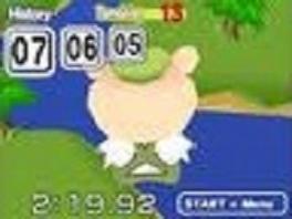 Dit beertje speelt de hoofdrol in alle minigames!