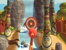 In dit spelletje probeer je het pijltje(de ontstopper) in het midden te schieten.
