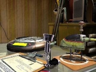 Hé, Chibi-Robo staat op je bureau! Met de camera en AR-functies lijkt het alsof hij zich in jouw omgeving bevindt.