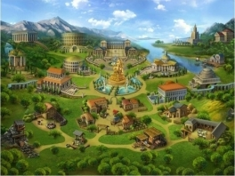 Zoals we allen weten, bestaat Rome uit een aantal gigantische monumenten in een open veld.
