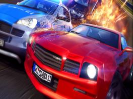 Je kunt kiezen tussen verschillende dure auto's om mee te crashen.