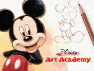 Leer beroemde Disney figuren tekenen, zoals Mickey Mouse hier.