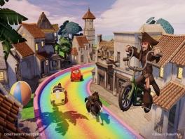 Het lijkt hier verdorie Rainbow Road wel!