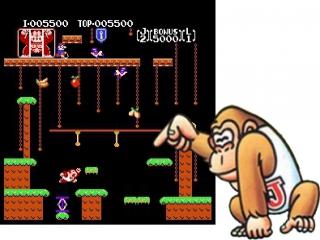Help Donkey Kong Jr. zijn vader te redden!