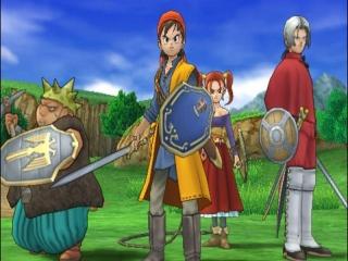 Dragon Quest VIII: Journey of the Cursed King: Afbeelding met speelbare characters