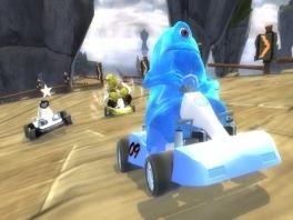 Zou het Blauwe Monster gaan winnen, of haalt shrek hem nog in?