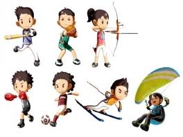 Je kunt uit een jongen en een meisje kiezen waar je verschillende sporten mee kunt spelen!