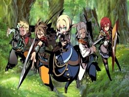 De helden van Story Mode: Arthur, de Highlander, Frederica, Simon en Raquna.