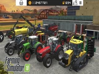 Centraal in dit spel staan de vele landbouwvoertuigen.