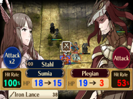 Hier zie je de strategische gameplay van Fire Emblem.