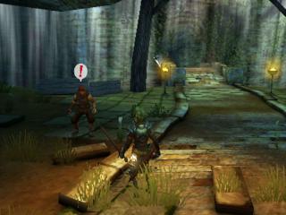 Verken duistere kerkers gevuld met bandieten en monsters.