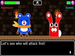 Een gevecht in een van de dungeons.