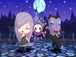 Dans als Gabrielle met verschillende horrorwezens, zoals Dracula!