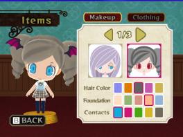 Kies je kleur ogen, kapsel en haarkleur.