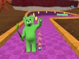 Speel minigolf als deze grappige Gummyberen.