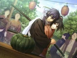Geen zorgen schat, ik bescherm je tegen die enge, groene pompoen...