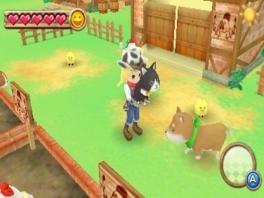 Gezellig zo'n boerderij met overal dieren, maar ik weet niet of deze kat en hond zo goed samengaan.