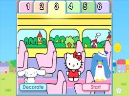 Ga samen met Kitty in de bus en maak een ritje.