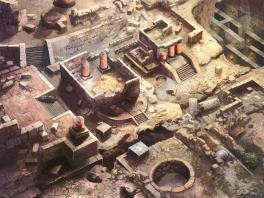 Zo, dit stadje is volledig verwoest... gelukkig hebben ze alle edelsteentjes laten liggen!