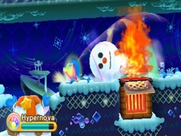 Een beetje kunnen puzzelen is ook nodig. Zo moet je een sneeuwpop in het vuur gooien.
