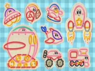 Hier zie je alle transformaties van Kirby.