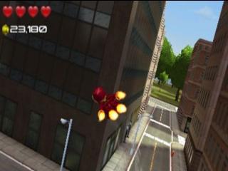 Ironman vliegt even een (Lego)blokje om.