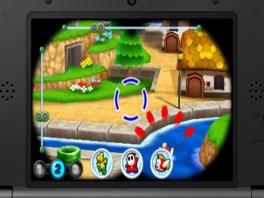 Spoor personages op met de 3D-verrekijker door het systeem te bewegen.