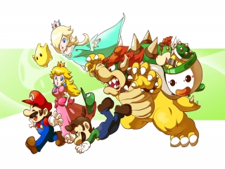 Mario & Luigi: Bowser's Inside Story + Bowser Jr.'s Journey: Afbeelding met speelbare characters