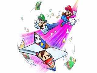 Wanneer <a href = https://www.mario3ds.nl/Nintendo-3DS-spel.php?t=Mario_and_Luigi_Dream_Team_Bros target = _blank>Luigi</a> een magisch boek open laat vallen, komen Paper Mario en papieren vijanden tevoorschijn.