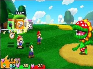Deze humoristische Mario & <a href = https://www.mario3ds.nl/Nintendo-3DS-spel.php?t=Mario_and_Luigi_Dream_Team_Bros target = _blank>Luigi</a> RPG zit weer vol met de bekende turn-based gevechten.