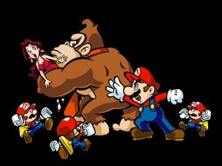 Help Mario en de mini-mario&apos;s <a href = https://www.mario3ds.nl/Nintendo-3DS-spel.php?t=Donkey_Kong target = _blank>Donkey Kong</a> te verslaan.