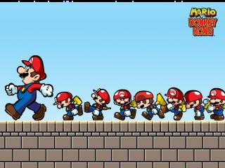 Mario en zijn leger van mini figuren zullen het tegen <a href = https://www.mario3ds.nl/Nintendo-3DS-spel.php?t=Donkey_Kong target = _blank>Donkey Kong</a> op moeten nemen.