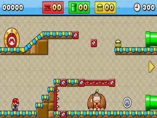 Elk level geeft wel een ding om mee te spelen, zoals de reuze <a href = https://www.mario3ds.nl/Nintendo-3DS-spel.php?t=Donkey_Kong target = _blank>Donkey Kong</a> hier die je omhoog gooit.
