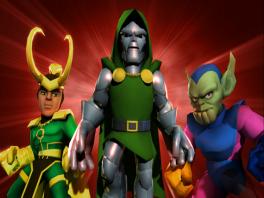De kwade genieën in dit spel: Loki, Doctor Doom en Abomination!