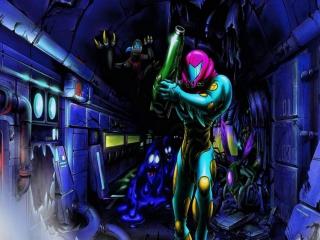 Samus Aran moet in dit spel het gevaarlijke X-virus bestrijden.