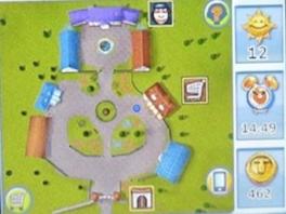 Op het onderste scherm wordt een plategrond weergegeven van je dierenhotel.